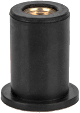 Заклепка резьбовая неопреновая с плоским бортом М6 L16,0