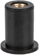 Заклепка резьбовая неопреновая с плоским бортом М6 L21,1