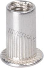 Заклепка резьбовая с плоским бортом М6 L15,0 алюминиевая