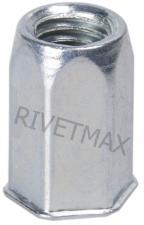 Заклепка резьбовая шестигранная с уменьшенным бортом М4 L11,0